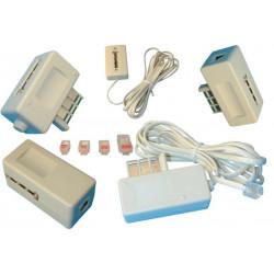 Travel adapter telephone plug to travel everywhere adapter plug modem telephone