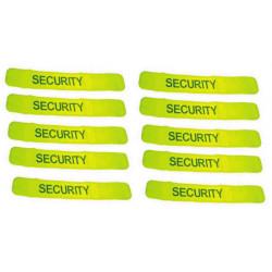Pack 10 brazaleta reflectante amarillo 'security'