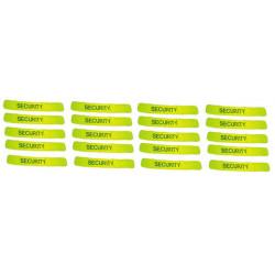 Pack 20 reflektierendes sicherheitsarmband gelb