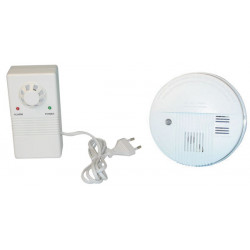 Pack 1 detecteur incendie electronique buzzer alarme 1 detection fuite gaz 220v