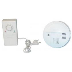 Pack 1 detector stand alone smoke detector buzzer, 9vdc autonomous smoke detectors fire alarm + 1 detector escaping gas detector