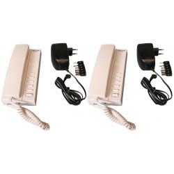 Pack 2 handset intercom wire kompatibel sprechstellen 5 + 2 stabilisierte stromversorgung elektrische stromversorgung 220vac 12v
