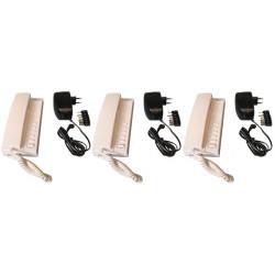 Pack 3 handset intercom wire kompatibel sprechstellen 5 + 3 stabilisierte stromversorgung elektrische stromversorgung 220vac 12v