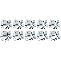Pack 10 handset intercom cream 12 station master station + 10 intercom power supply