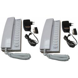 Pack 2 handset intercom wire kompatibel sprechstellen 11 + 2 stabilisierte stromversorgung elektrische stromversorgung 220vac 12