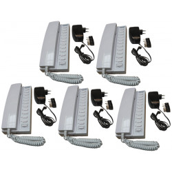 Pack 5 handset intercom wire kompatibel sprechstellen 11 + 5 stabilisierte stromversorgung elektrische stromversorgung 220vac 12