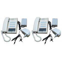 Pack 2 handset intercom cream 12 station master station + 2 intercom power supply