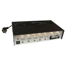 Amplificador electronico pa mono 80w + lector cassette 220vca 12vcc amplificadores publico adress