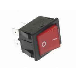 Leistungswippenschalter 10a 250v dpst ein aus rote wippe mit i o