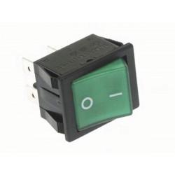 Interruttore a levetta 10a 250v electric ha r906 / g dpst on off testimonianza verde neon velleman