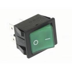 Power rocker switch 10a 250v dpst on off with green neon light
