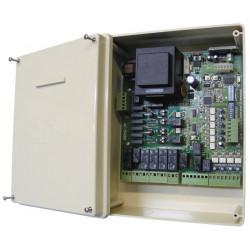 Central universal para pedido de uno o dos motores de portico corredizo batiente cortina electrica