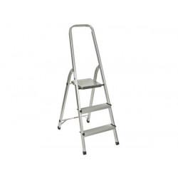 Aluminium step stool 2 steps + platform