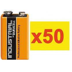 Pile electrique 9v (50 pcs) alcaline 500ma hq lr22 6lf22 am6 6lr61 1604a 522 mn1604 a1604 4022