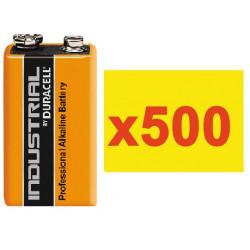 Pile electrique 9v (500 pcs) alcaline 500ma hq lr22 6lf22 am6 6lr61 1604a 522 mn1604 a1604 4022