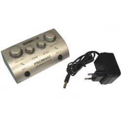 Mezclador de sonido mezclador de karaoke promix02 2 micro micrófono música partido velleman sonido
