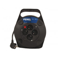 Cable reel 4 plugs with fuse 10m