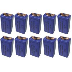 9v 1200ma batería de litio 6f22 6lf22 am6 1604a 6lr61 mn1604 a9v 522 a1604 4022 larga duración (10 pilas)