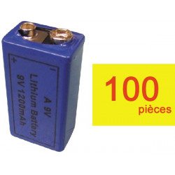 100 pile electrique 9v lithium grande capacite 1200ma 6lf22 am6 6lr61 1604a 522 mn1604