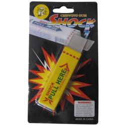 Faux paquet de chewing gum electrisant jaune declenchement electrique farce et attrapes 8570