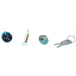Lock with switch for fire central aef1, aef3, aef5, aef8, aef16, aef24