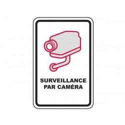 Panneau avertissement videosurveillance plaque signalitique à visser 30x21cm signalisation camera
