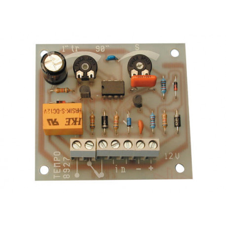 Electronic analyser electric module 12vdc from 0 to 90 seconds time lapse relay and 12vdc