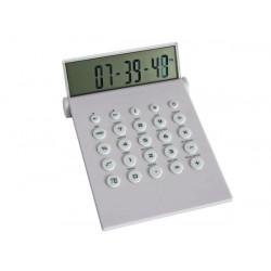 Calculadora con reloj del horario mundial