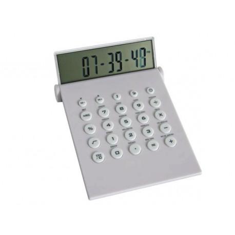 Desktop calculator with world time clock