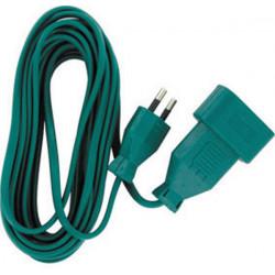 Green extension cord extension 5m 2x0.75mm ² v 6a el35171