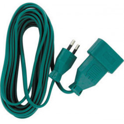 Prolongateur rallonge electrique verte 5m en 2x0.75mm² 6a el35171 v