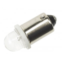 White 12v led car bulb, 1 led (2pcs blister) 1500mcd