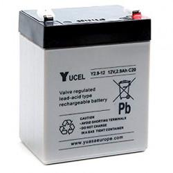 Batterie accu pile rechargeable 12v 2.8ah UL2.8 12 accumulateur plomb gel etanche 12vcc 2.8a 2.6AH