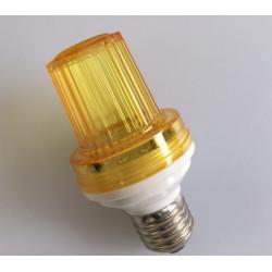 Mini strobo blitzer gelb 1w 10 led e27 fassung