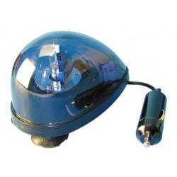Lampara rotativa para emergencia mechero coche azul girofaro ventosa 12vcc 5w azul dl60 girofaros ventosas girofaros electricos