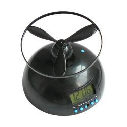 Réveil matin Noir hélice volante radio Digital