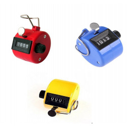 3pcs ABS Hand held Tally Counter 4 Digit Counter Buddha Numbers Clicker Golf