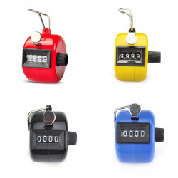 4 pcs Tally Counter, Plastic Tally Counter Clicker, 4 Colors