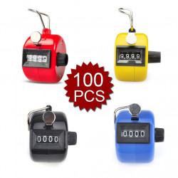 100 pcs Tally Counter, Plastic Tally Counter Clicker, 4 Colors