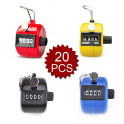 20 pcs Tally Counter, Plastic Tally Counter Clicker, 4 Colors