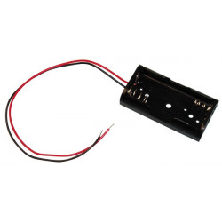 10 X Koppler mit 2 batterien r6 mit draht aa am3 lr6 15a e91 mn1500 815 4006 gehause mit 2 akkumulatoren