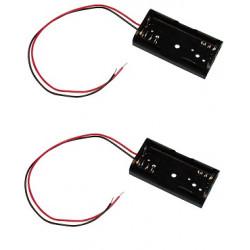 2 X Koppler mit 2 batterien r6 mit draht aa am3 lr6 15a e91 mn1500 815 4006 gehause mit 2 akkumulatoren