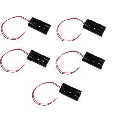 5 X Koppler mit 2 batterien r6 mit draht aa am3 lr6 15a e91 mn1500 815 4006 gehause mit 2 akkumulatoren