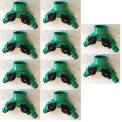 Lot de 10 raccords rapide clipsable gardena connecteur double tuyau extensible hose8fr hose15fr
