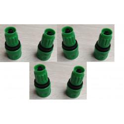 Lot de 6 raccords rapide clipsable gardena connecteur pour tuyau eau extensible arrosage hose8fr