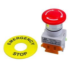 Notfall einstellungsknopf no nf faustschlag diameter 22 mm bpr22 fur boit1 securite anti agressio