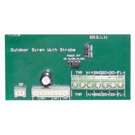 Circuit de sirene autoalimentee sa120p BS-2-50W PCB alarme sonore securite
