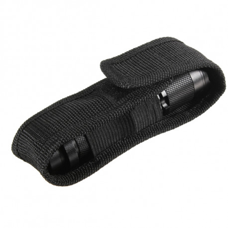 Nylon holster holder belt pouch case for led flashlight torch light black Y ob