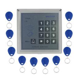 Seguridad en el hogar RFID Proximidad Entrada Puerta Sistema de control de acceso de llave con 10pcs RFID llaves Key fob