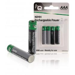 4 NiMH-Akku AAA 1,2V 950mAh Blister von 4 Batterien HQHR03-950 / 4B